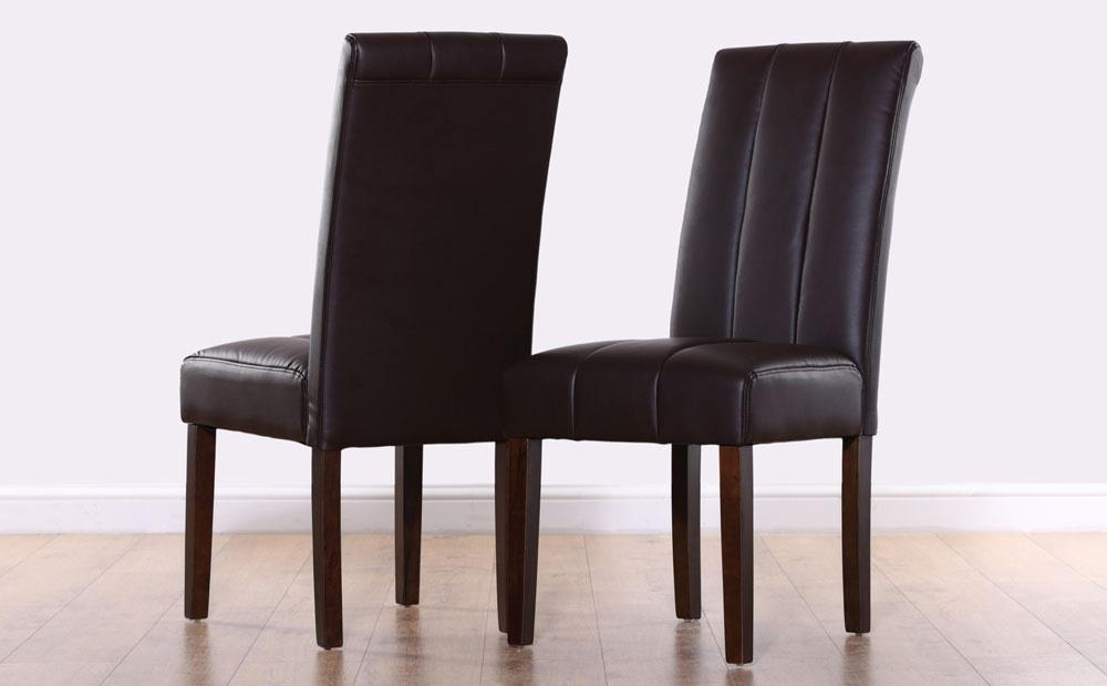 Carrick Dark Brown Leather Dining Chair (Wenge Leg) Only £ (View 5 of 20)