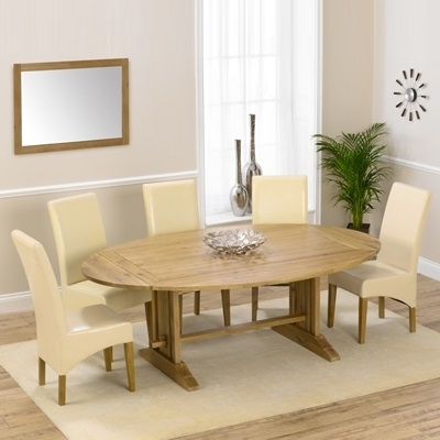 Carver Oak Oval Extending Dining Table With 8 Rome Chairs – Robson Intended For Most Up To Date Oval Extending Dining Tables And Chairs (View 4 of 20)