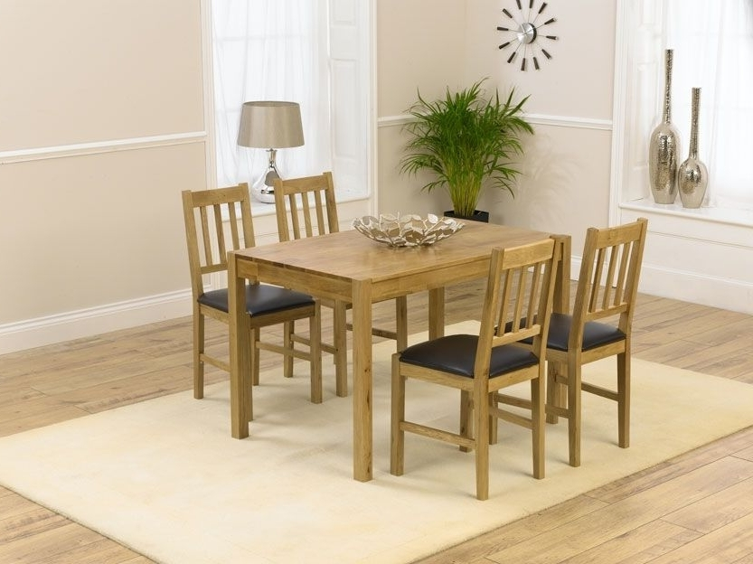 Casa Oak Dining Sets Are Fantastic Value Without Compromising On With Famous Oak Dining Tables And 4 Chairs (View 6 of 20)