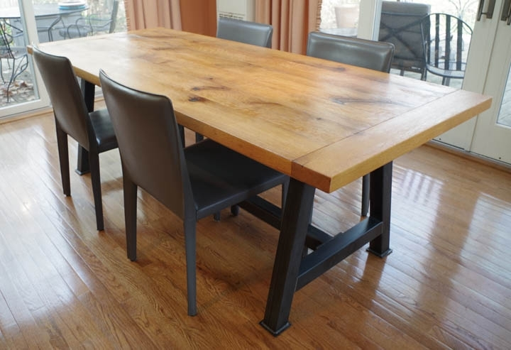 Chagrin Valley Custom Furniture – Rustic Oak Dining Table Regarding Latest Rustic Oak Dining Tables (View 4 of 20)