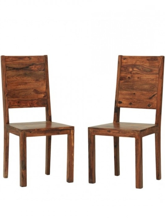 Chairs – Dallas Sheesham Wood Dining Chair (Set Of 2) In (View 4 of 20)