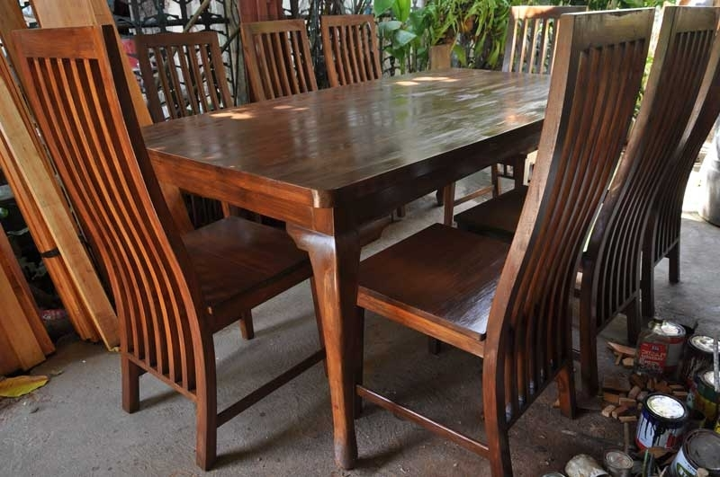 Chai's Eight Seater Mahogany Dining Table Intended For Most Popular Mahogany Dining Table Sets (View 10 of 20)