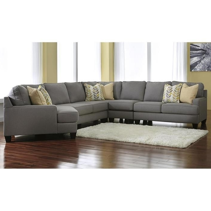 Chamberly 5 Piece Sectional With Raf Cuddler In Alloy (View 13 of 15)