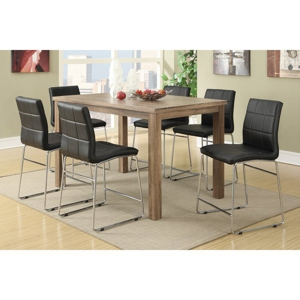 Chandler 7 Piece Extension Dining Sets With Fabric Side Chairs With Regard To Widely Used Shop Chandler 7 Piece Counter Height Dining Set – Free Shipping (View 3 of 20)