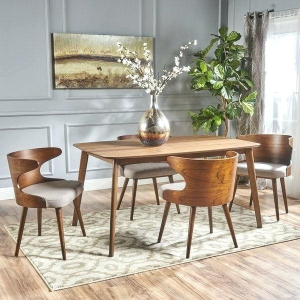 Chandler 7 Piece Extension Dining Sets With Wood Side Chairs Within Most Recently Released Living Spaces Dining Sets Mid Century 5 Piece Rectangular Wood (View 4 of 20)