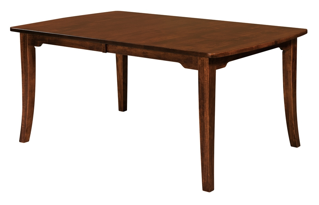 Chandler Extension Dining Tables For Popular Amish Furniture: Hand Crafted, Solid Wood Dining Leg Tables – Amish (View 4 of 20)