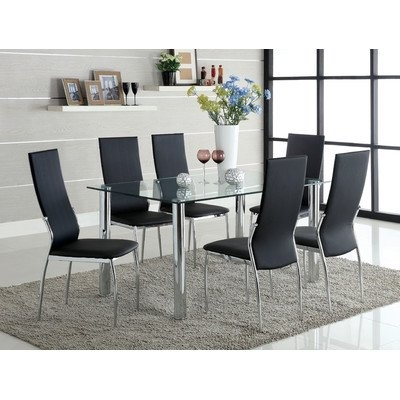 Chandler Extension Dining Tables With Widely Used Amazon – Chandler 7 Piece Dining Set Finish: Black – Table (View 7 of 20)