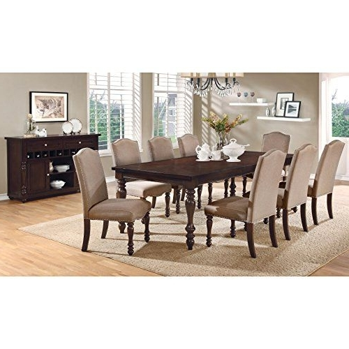 Chapleau Ii 9 Piece Extension Dining Table Sets Regarding Well Liked Furniture Of America Edella Classic 9Piece Antique Cherry Dining Set (View 5 of 20)