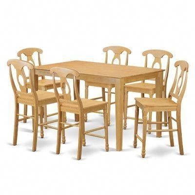 Charlton Home Smyrna 7 Piece Counter Height Pub Table Set #pubchairs With Recent Palazzo 3 Piece Dining Table Sets (View 4 of 20)