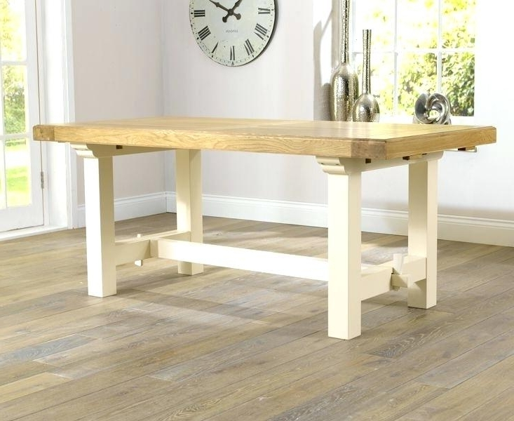 Charming Cream Oak Dining Table And Extending Small Tables Throughout Well Known Cream And Oak Dining Tables (View 2 of 20)