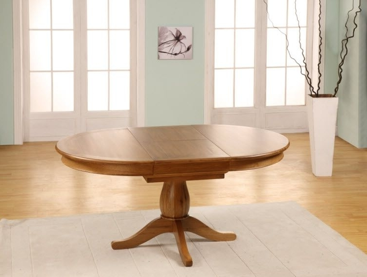 Chateau Oak Round To Oval Extending Dining Table – 1150 1650Mm In Well Known Round Dining Tables Extends To Oval (View 2 of 20)