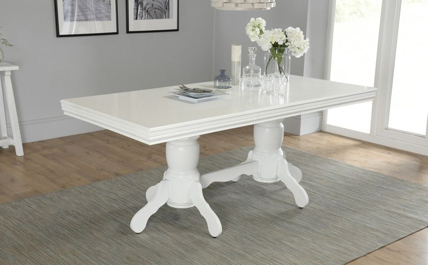 Chatsworth Dining Tables Intended For Recent Chatsworth White Extending Dining Table – 150 – 180Cm (View 5 of 20)