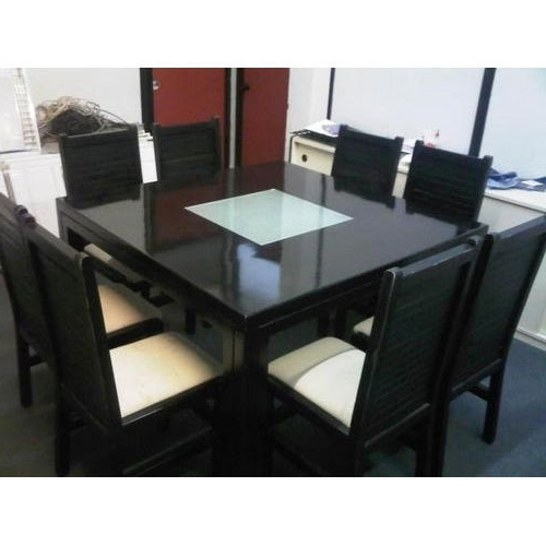 Chaukor Khaane Ki Mez With Fashionable Black 8 Seater Dining Tables (View 13 of 20)