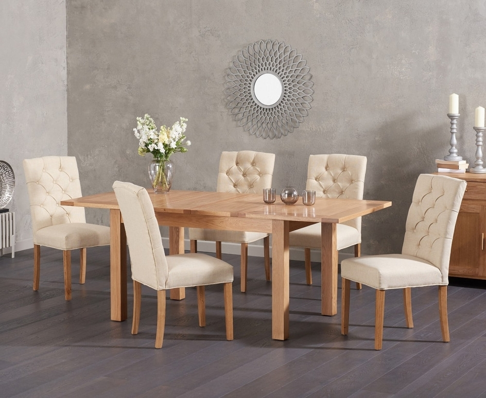 Cheadle 120Cm Oak Extending Dining Table With Candice Fabric Chairs Pertaining To Well Liked Candice Ii Extension Rectangle Dining Tables (View 5 of 20)
