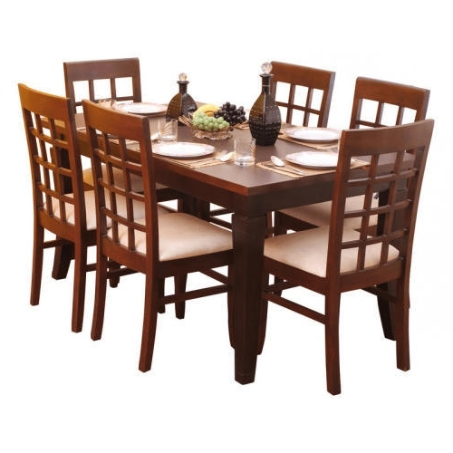 Cheap 6 Seater Dining Tables And Chairs In Popular Wooden Brown 6 Seater Dining Table, Rs 7000 /set, Laxmi Steel (View 2 of 20)