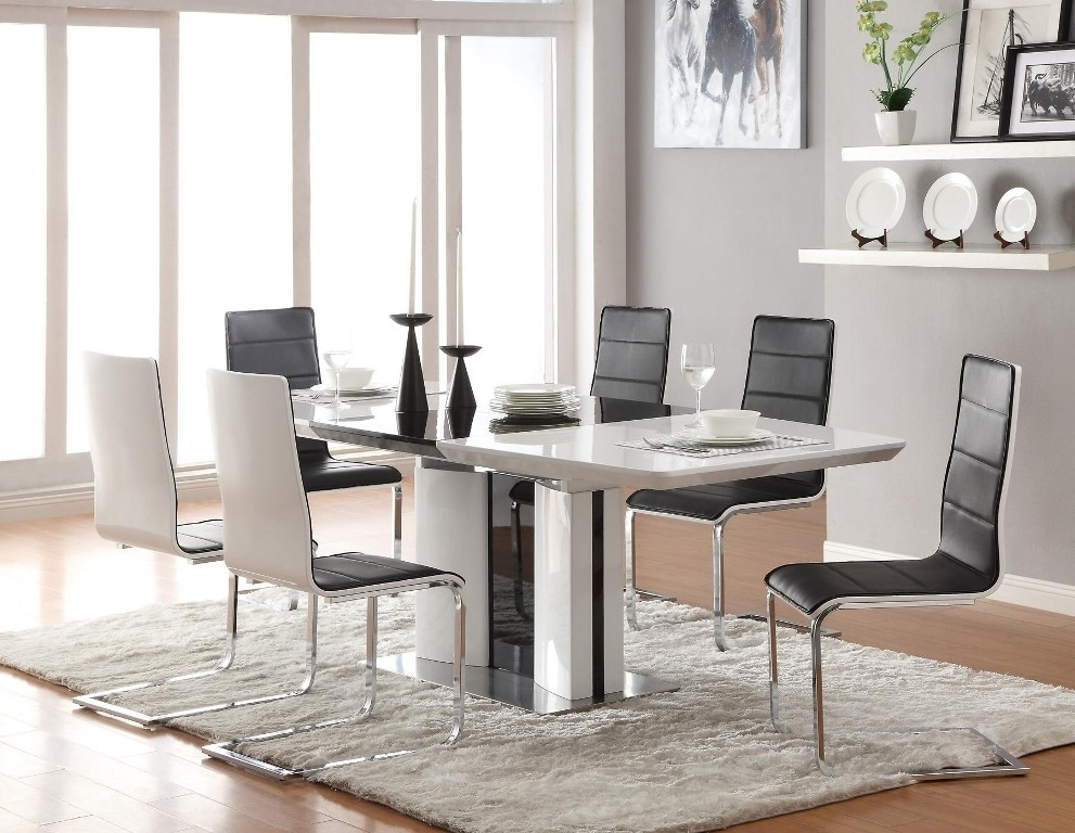 Cheap Contemporary Dining Tables With Newest Dining Tables: Interesting Contemporary Dining Table Set (View 6 of 20)