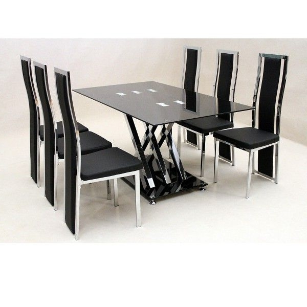 Cheap Dining Sets Throughout Famous Glass Dining Sets For Those Who Want Their Places Look Modern (View 8 of 20)