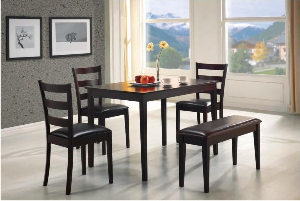 Cheap Dining Tables Sets Intended For 2017 Terrific Impressive Bench Dining Room Set Ideas 26 Big Small Dining (View 3 of 20)