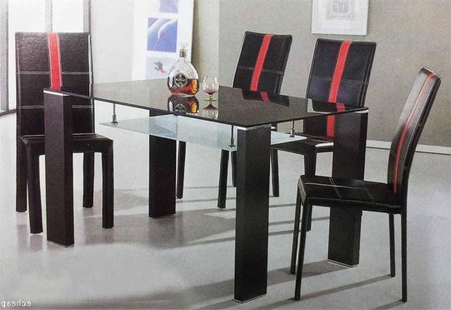 Cheap Glass Dining Tables And 6 Chairs Throughout Widely Used Cheap Glass Dining Table With 6 Chairs 7 Pieces Set Sydney Warehouse (View 2 of 20)