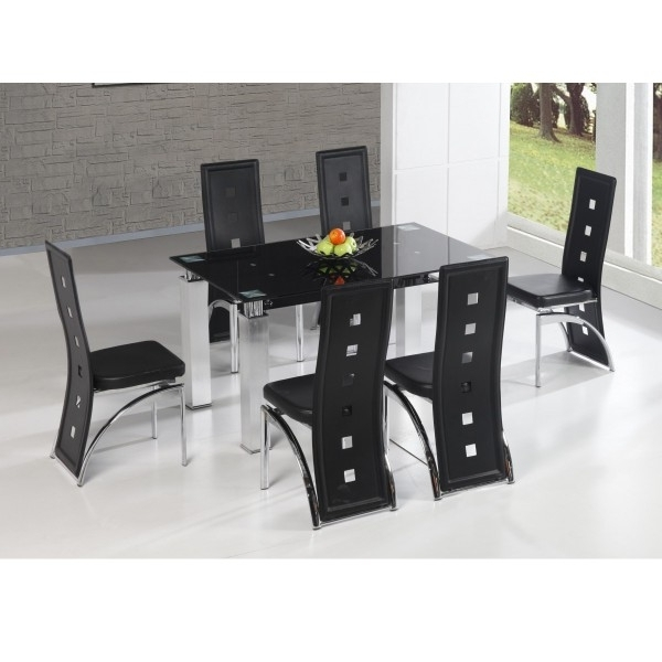 Cheap Heartlands San Francisco Glass Dining Table Set & 6 Chairs For Within Most Popular Cheap Glass Dining Tables And 6 Chairs (View 17 of 20)