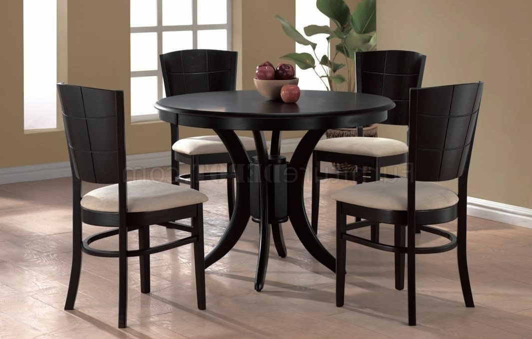Cheap Round Dining Tables With Regard To Most Popular Espresso Finish Modern Round Dining Table W/optional Chairs (View 6 of 20)
