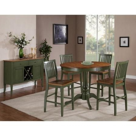 Cheap Two Tone Dining Room, Find Two Tone Dining Room Deals On Line Regarding Fashionable Candice Ii 5 Piece Round Dining Sets With Slat Back Side Chairs (View 6 of 20)