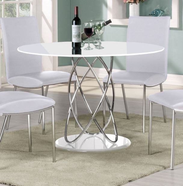 Cheap White High Gloss Dining Tables In Favorite Eclipse 115 Cm Round White High Gloss Dining Table (View 3 of 20)