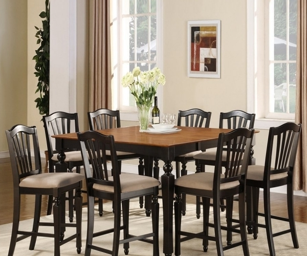 Cheery Caira Piece Extension Set Back Chairs Caira Piece Extension Intended For Most Up To Date Chapleau Ii 9 Piece Extension Dining Table Sets (View 9 of 20)