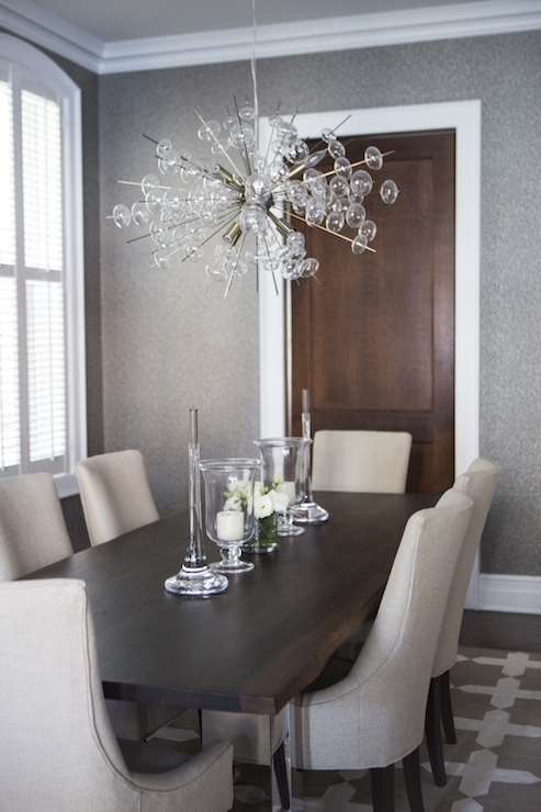 Chrome And Wood Dining Table – Transitional – Dining Room Throughout Well Liked Chrome Dining Room Chairs (View 20 of 20)