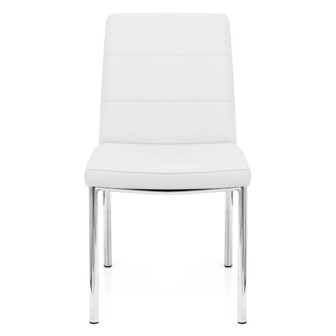 Chrome Breakfast Dining Chair White – Atlantic Shopping Inside Well Liked Chrome Dining Chairs (View 2 of 20)