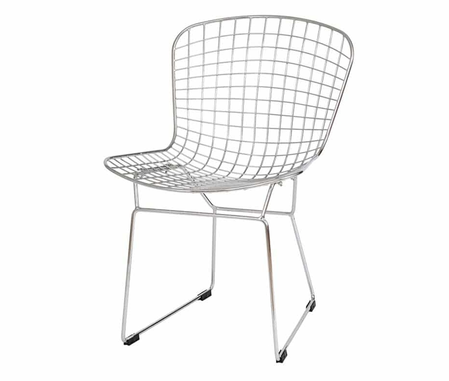 Chrome Dining Chairs Inside Most Current Chrome Mesh Dining Chair With Sled Legswarner Contracts (View 3 of 20)