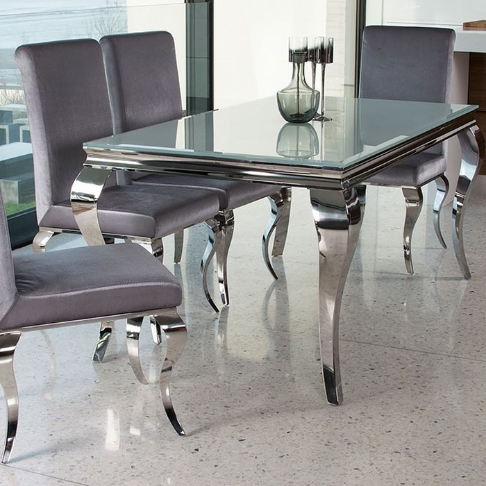 Chrome Dining Sets With Famous (View 2 of 20)