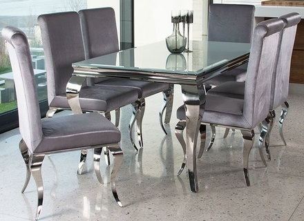 Chrome Dining Tables And Chairs In Famous Dining Room: Black And White Contemporary Dining Chairs With Chrome (View 9 of 20)