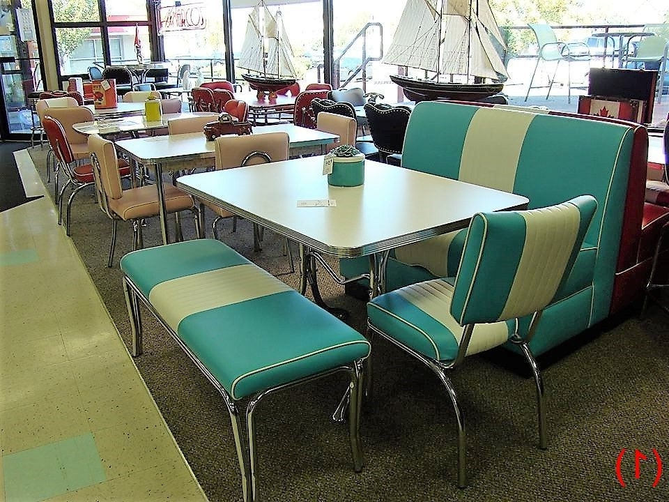 Chrome Dining Tables And Chairs Throughout Most Recently Released Cool Retro Dinettes (View 11 of 20)