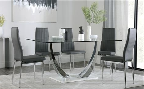 Chrome Glass Dining Tables Intended For Best And Newest Chrome Dining Sets (View 3 of 20)