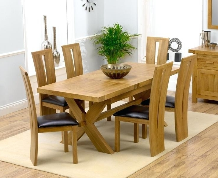 Chunky Solid Oak Dining Tables And 6 Chairs Throughout Most Up To Date Chunky Dining Room Table And Chairs Image Inspirations – Gondra (View 5 of 20)