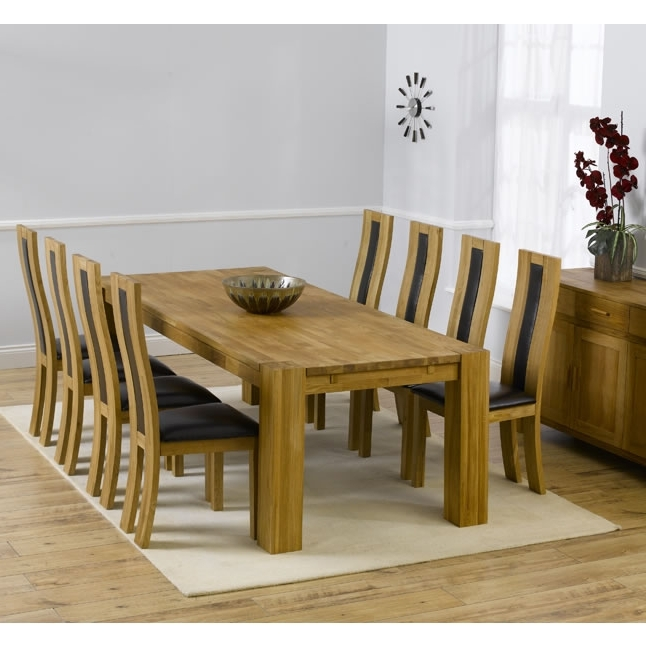 Chunky Solid Oak Dining Tables And 6 Chairs Within Most Up To Date Florence Chunky Solid Oak Cm Oak Dining Table 6 Chairs Fresh (View 6 of 20)