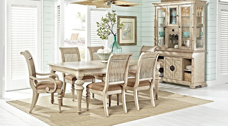 Cindy Crawford Home Key West Sand 5 Pc Rectangle Dining Room With Throughout 2018 Crawford Rectangle Dining Tables (View 5 of 20)