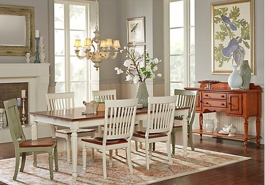 Cindy Crawford Home Ocean Grove White 5 Pc Rectangle Dining Room In Most Recently Released Crawford 6 Piece Rectangle Dining Sets (View 5 of 20)