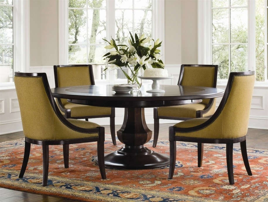 Circular Dining Room Decor Ideas — Bluehawkboosters Home Design Inside Fashionable Cheap Round Dining Tables (View 7 of 20)