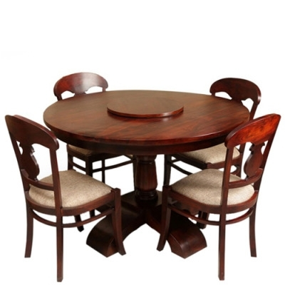 Circular Dining Tables For 4 Regarding Fashionable Wonderful Dining Table Set 4 Seater Front 533X368 Bedroom (View 4 of 20)