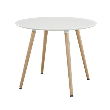 Circular Dining Tables Pertaining To Favorite Amazon – Modway Track Circular Dining Table In White – Tables (View 6 of 20)