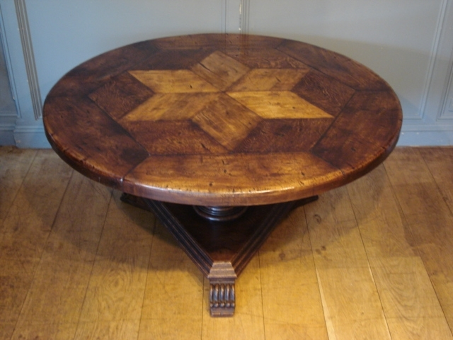 Circular Oak Dining Tables Intended For Recent Sold/antique French Circular Oak Centre Table – Antique Dining Tables (View 5 of 20)