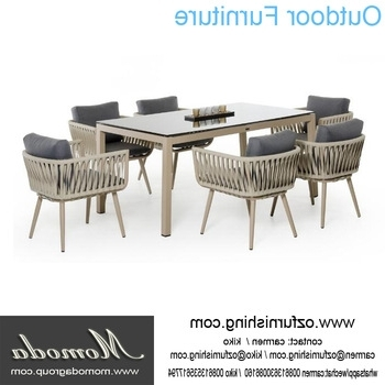 Ck207 Modern Outdoor Furniture Garden Dining Table Set Dining Table Intended For Well Liked Garden Dining Tables And Chairs (View 2 of 20)