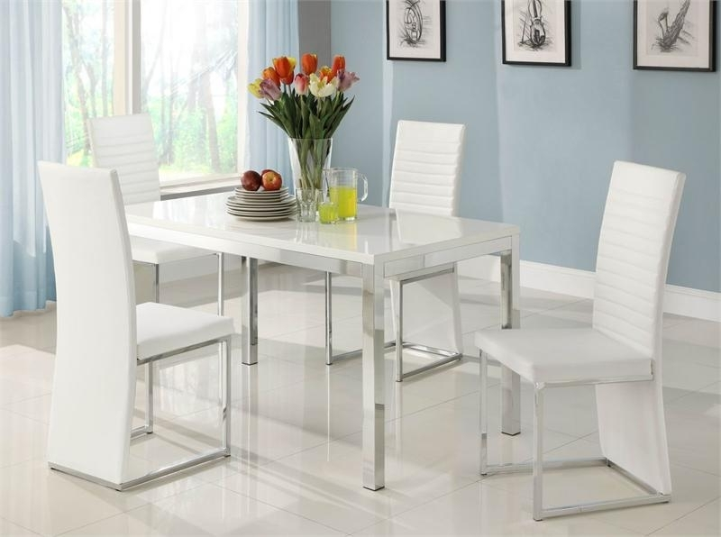 Clarice Collection Dining Set Throughout Best And Newest White Dining Sets (View 2 of 20)