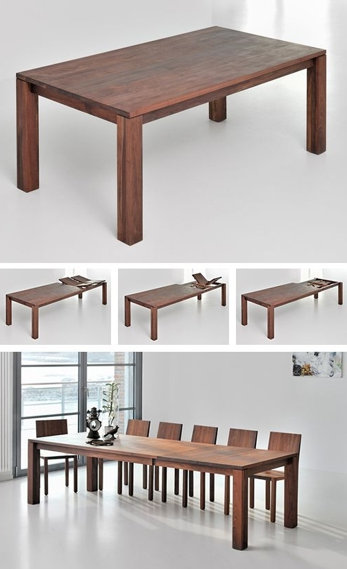 Classic Extending Dining Table From Solid Wood (View 19 of 20)