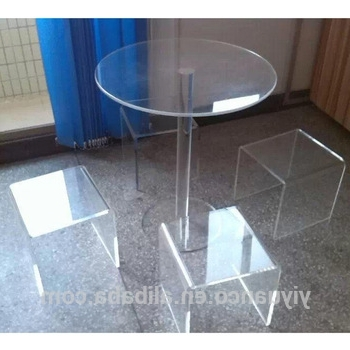 Clear Acrylic Round Dining Table/acrylic Round Table Top/acrylic With Current Acrylic Round Dining Tables (View 7 of 20)