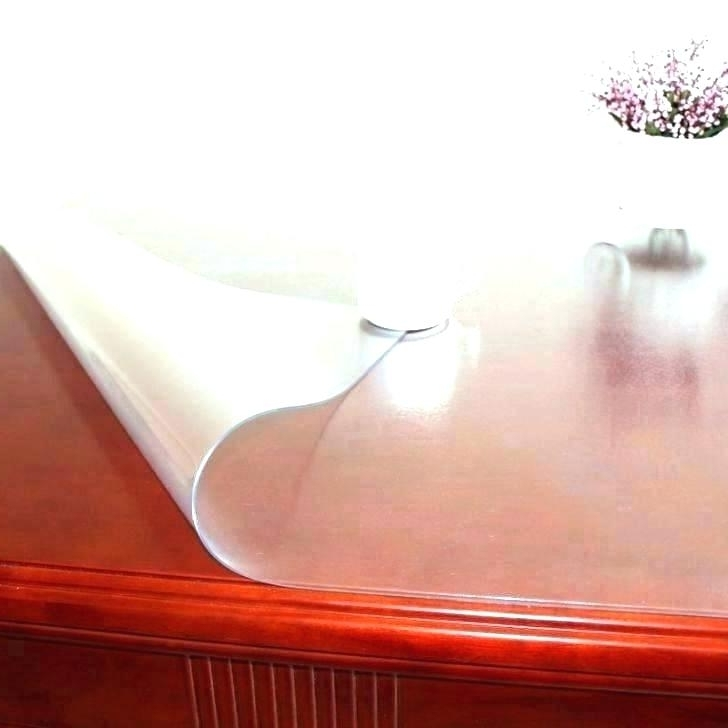 Clear Plastic Dining Tables For Famous Clear Dining Table Protector – Venuzcraft (View 19 of 20)