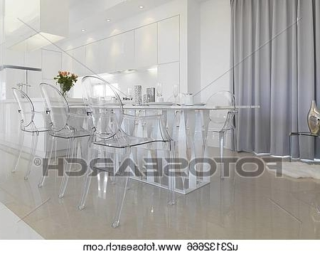 Featured Photo of Clear Plastic Dining Tables