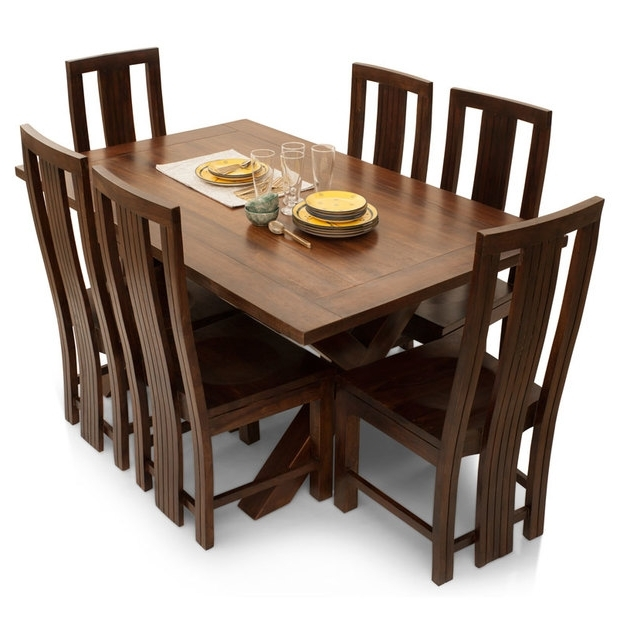 Clovis Barcelona 6 Seater Dining Table Set – Lock And Pull Within Well Liked 6 Seater Dining Tables (View 19 of 20)